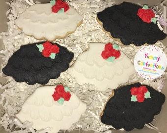 TuTu Skirt Cookies - 1 Dozen (12 Cookies)
