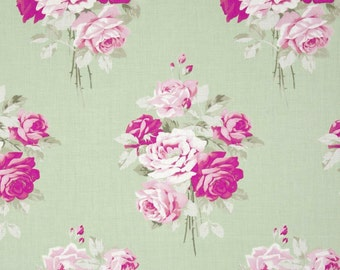 Slipper Roses Green Color ~ Tanya Whelan Sleeper Roses Collection for Free Spirit Fabrics Collection Cotton