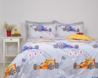 Race car bedding | Etsy