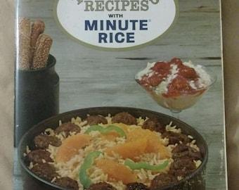 Vintage 1965 Minute Rice advertising cookbook