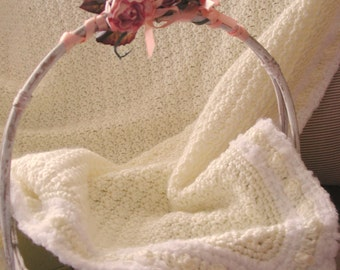 Crochet Popcorn and Sunshine Blanket PDF ePattern 36 inches (91 cm) squared super buttery soft blanket