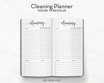 Cleaning Planner A5 Planner Inserts Cleaning Schedule