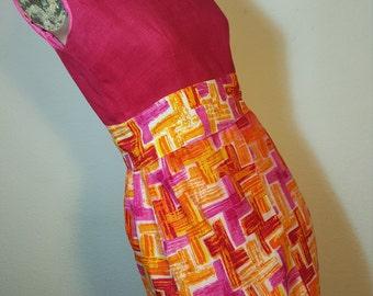 FREE  AHIPPING 1960 Pop Art Mod Maxi Dress