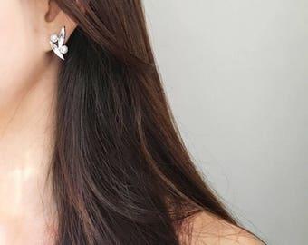 Stone Stud Earrings in Clear - Stone Earrings - Women's Earrings - Jewel Earrings - Statement Jewelry