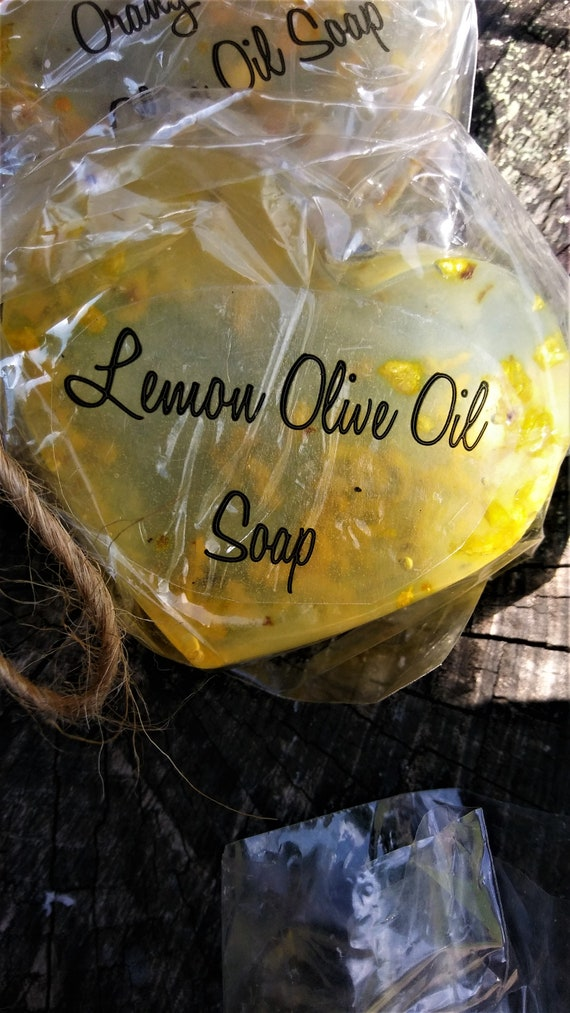 Lemon Essential Oil Olive Oil Clear Heart Soap (Set of 3)