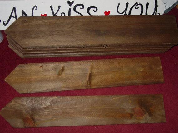 9 Blank Rustic Wedding Signs W Stakes Wood DIY
