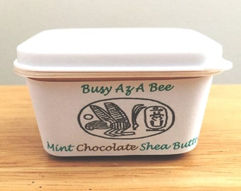 Mint Chocolate 100% Pure Whipped Shea Butter w/ essential oils