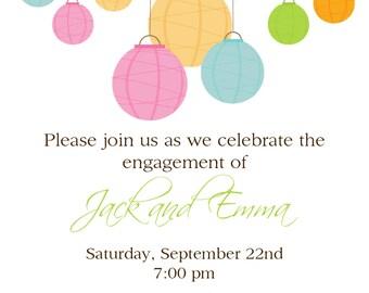 paper lanterns invitation