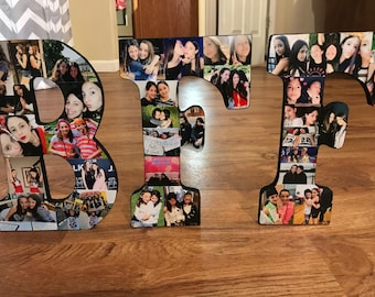 Wooden Letter Picture Collage