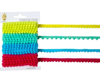 Love+Lemon Pom Pom Trim, Assorted Colors, 4 Yards