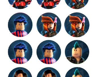 Roblox characters party decoration edible cupcake images cupcake toppers