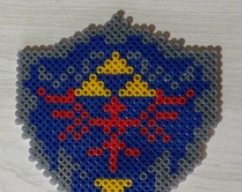 3D pixel art Legend of Zelda Hylian Shield
