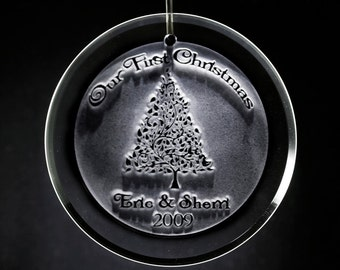 Our First Christmas Engraved Ornament
