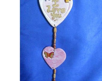 Valentines love hearts . I love you . Hangers. gift.