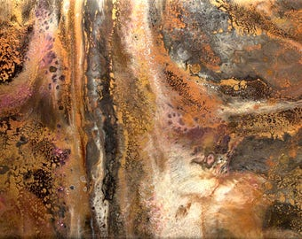 Epoxy resin abstract multi layered modern contemporary wall art painting, fluid art - Dryad