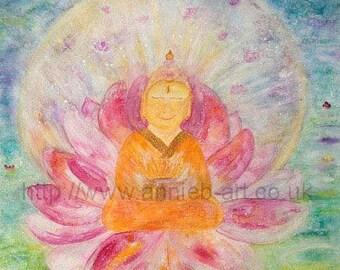 MEDITATION WALL ART. Buddha poster. Meditation art. Zen wall art. Buddha painting. Buddha paintings. Calm art.