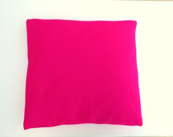Bright Pink Cushion Cover, Pink Pillow Case, Felt Pillow Cover Pink, Pink Felt Pillow Case Felt