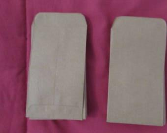 Set of 25 kraft paper bags
