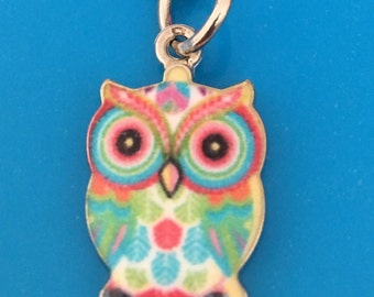 Owl keyring - choose your colour