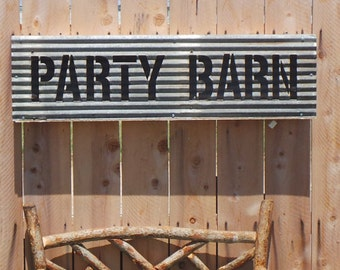 PARTY BARN Vintage Style Marquee Light Sign FREE Shipping