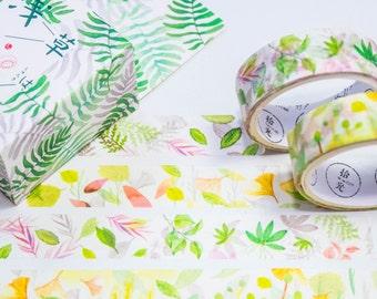Masking Washi Tape-watercolour sheets/Filoxafing DIY scrapbooking deco tape