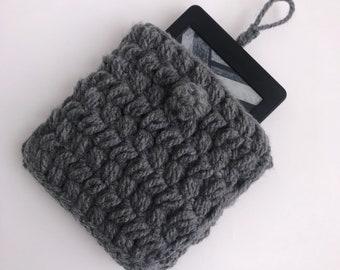 Crochet Kindle Tablet Case - Grey