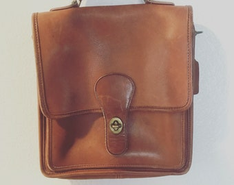 Vintage Brown Coach Purse, vintage brown leather coach purse, FREE SHIPPING