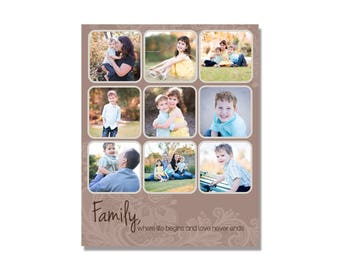 INSTANT DOWNLOADABLE Photography Storyboard Photoshop Template