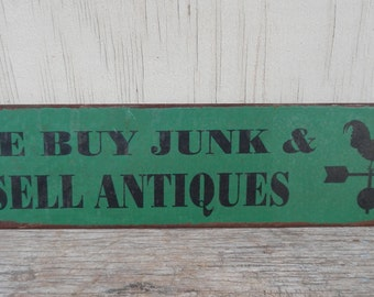 Rusted Metal Reproduction Sign!