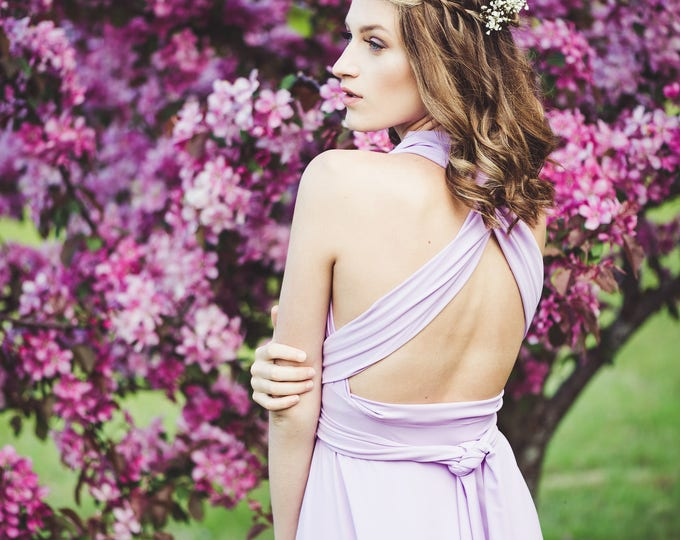 Orchid Long Convertible Dress / Custom Size, Color, Length / Plus Size & Maternity Included