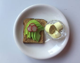 Avocado Toast Breakfast for 18 inch Dolls