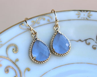 Periwinkle Earrings Gold Lavender Blue Earrings Bridesmaid Earrings Wedding Earrings Bridesmaid Jewelry Gift Wedding Jewelry