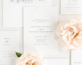 Bethany Wedding Invitations - Sample