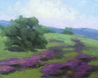 Landscape Oil Painting, Plein Air, Impressionist, California Hills, Mary Mulvihill