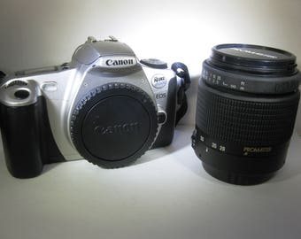 Canon EOS Rebel 2000 Student SLR Film Camera with PROMASTER Aspherical 28-80mm f3.5-5.6 Lens