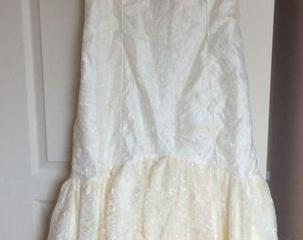 "Vintage ""Donerica"" Wedding Dress."