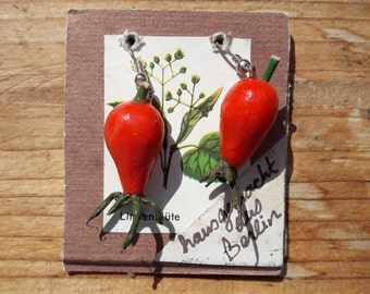 Rose Hips Earrings