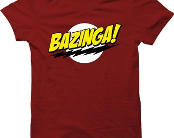 BAZINGA Popular Tv Show T Shirt Sheldon Cooper Funny Mens Gift Shirt Smart T-shirt