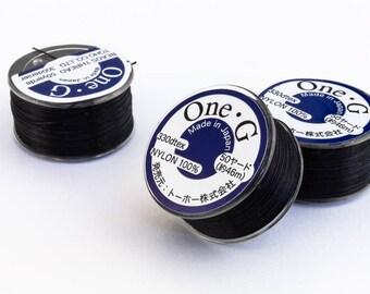 Black Toho Nylon Size G Thread #CDG002
