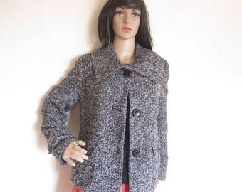 "Vintage 90s ""Gerry Weber"" Boucle wool coat jacket M """""