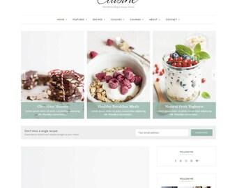 Cuisine - WordPress Theme - WordPress Recipe Theme - WordPress blog theme - Responsive WordPress theme - WordPress template - Feminine