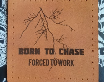 Storm chase lightning patch leather geek gift