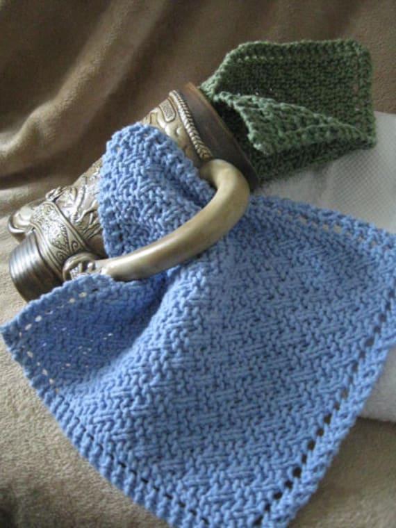 Knit Washcloth Pattern Simple Weave Diagonal Eyelet