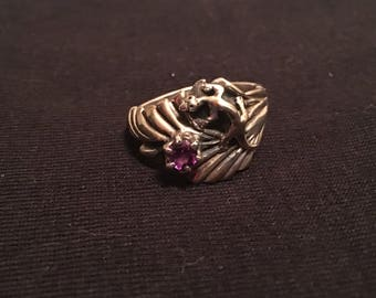 Signed George Shaw Lizard Ring