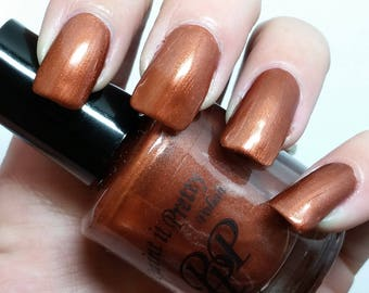 Rustic, bronze nail polish, Paint it Pretty Polish 15ml, indie nail polish, 5 free nail polish