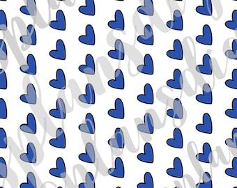 DIGITAL Paper- Blue Hearts