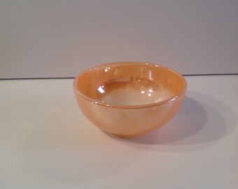 Peach lustre ware bowl