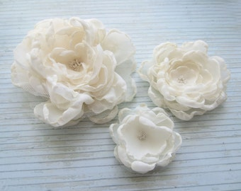 Bridal Hair Clips, Ivory Hair Clips, Wedding Flower Hair Clips, Flower Clips, Hair Accessories, Wedding Accessories, Made in Sweden