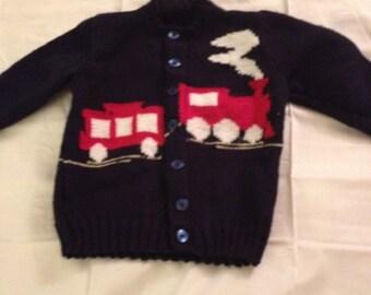 Train Cardigan Size 4