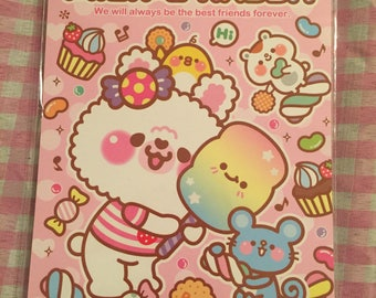 Kawaii mien rabbit medium memo pad 4 designs